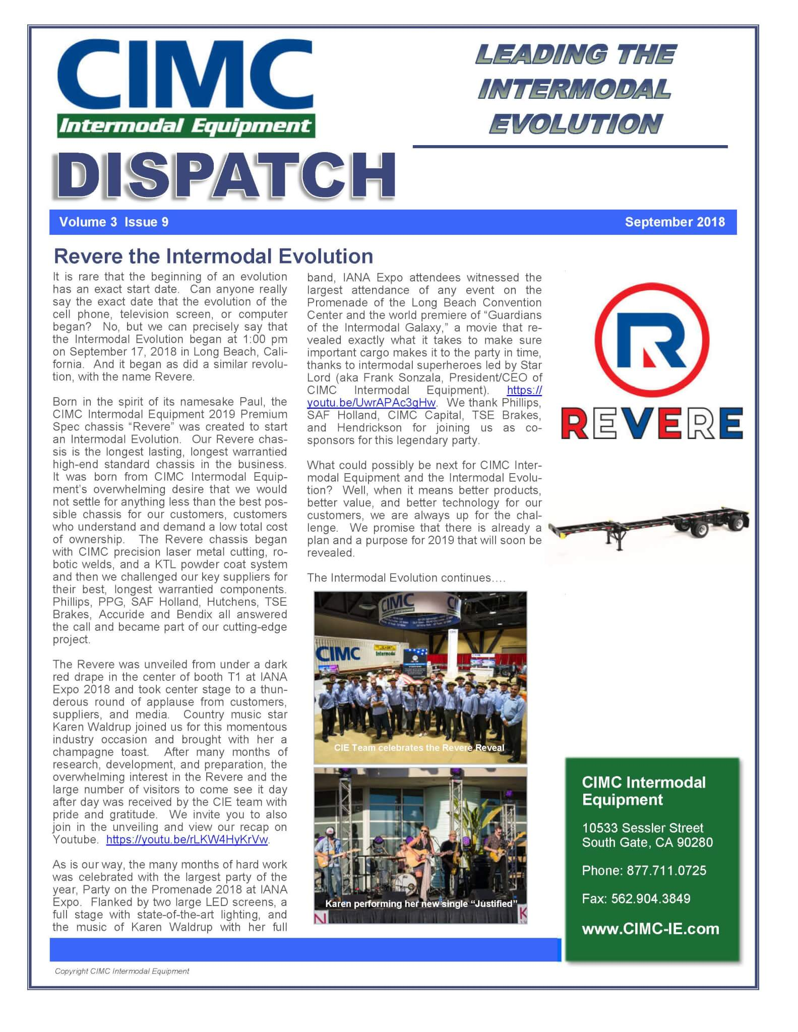 CIMC Dispatch September 2018