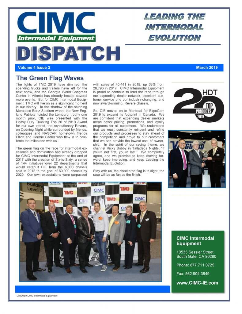 CIMC Dispatch March 2019