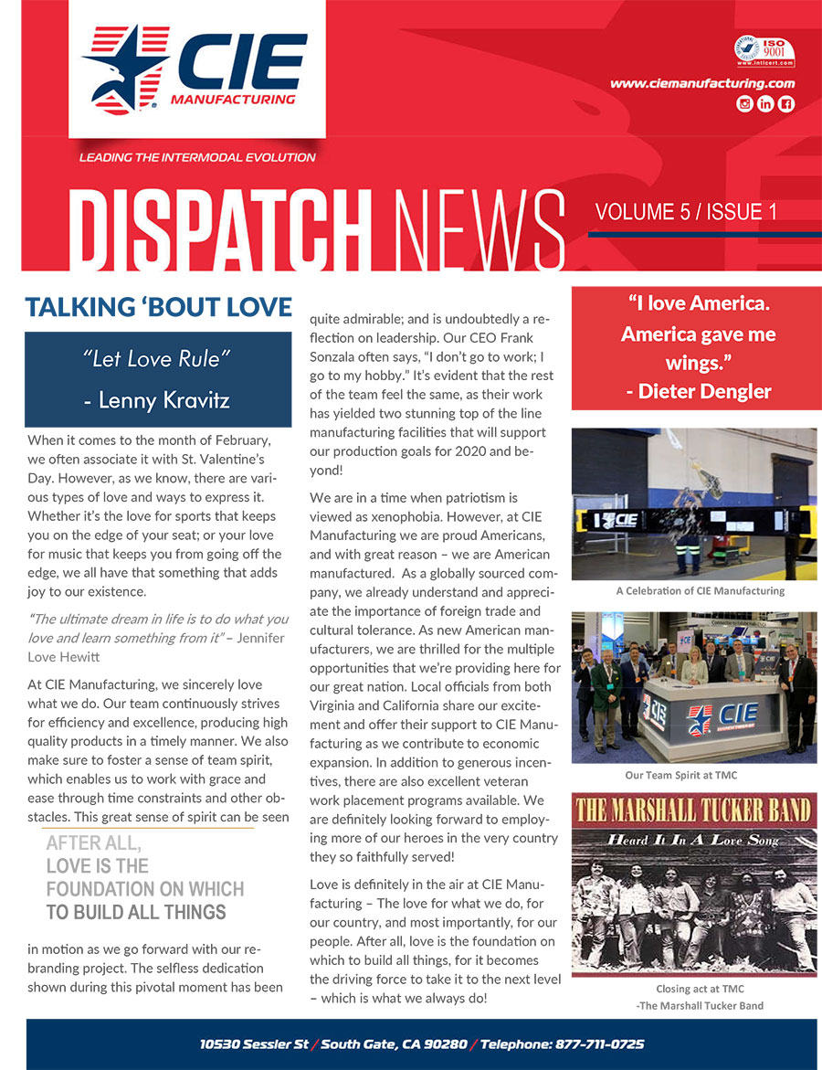 CIE Manufacturing Dispatch March 2020