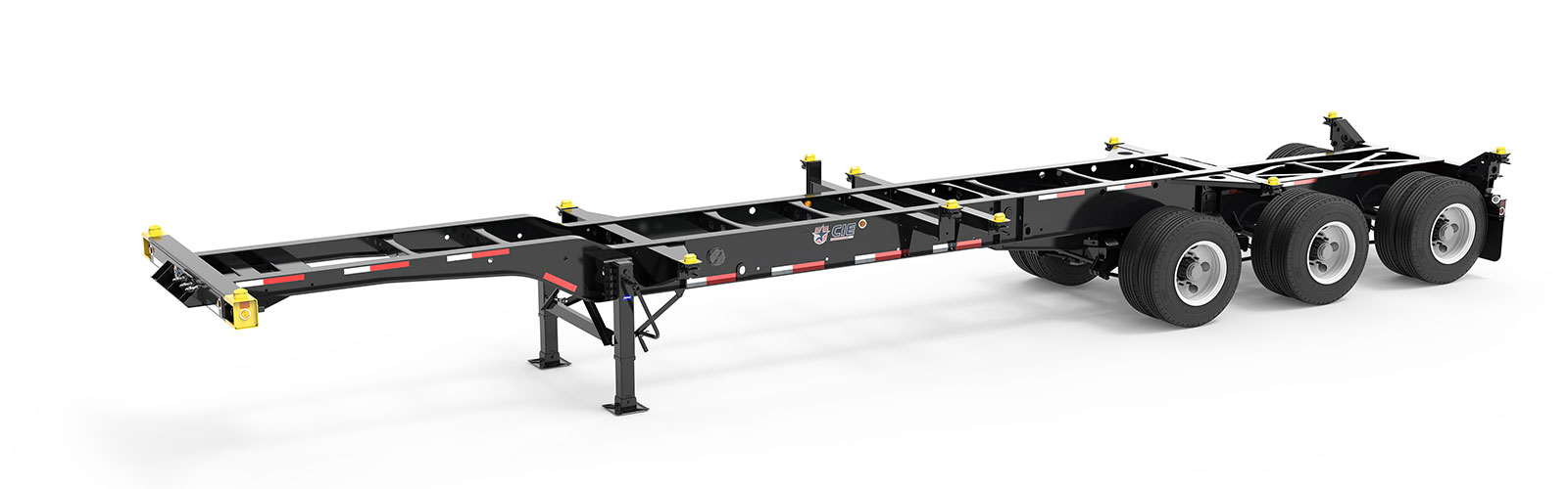 20-40' Combo Tridem Container Chassis Angle View Final