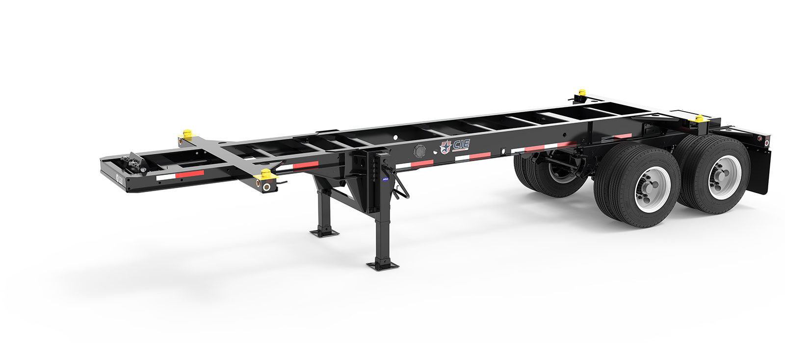23.5' Tandem Slider Container Chassis Angle View Final