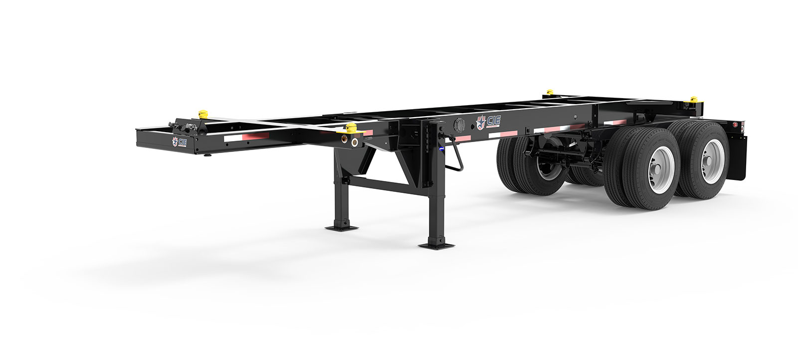 23.5' Tandem Slider Container Chassis Literature Angle View Final