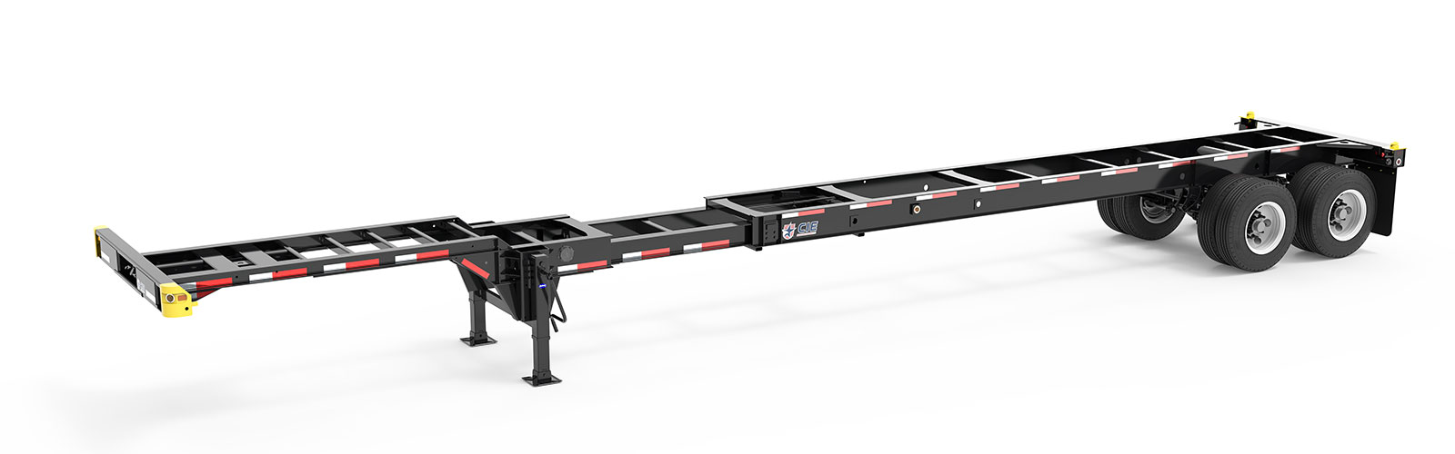 40-45' Extendable Tandem Container Chassis Angle View Final