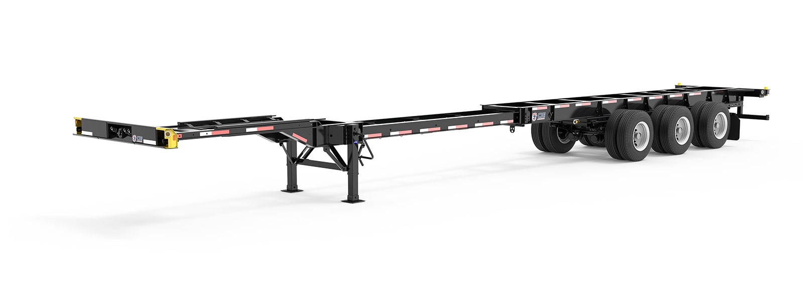 40-53' Extendable Tridem Container Chassis Literature Angle View Final