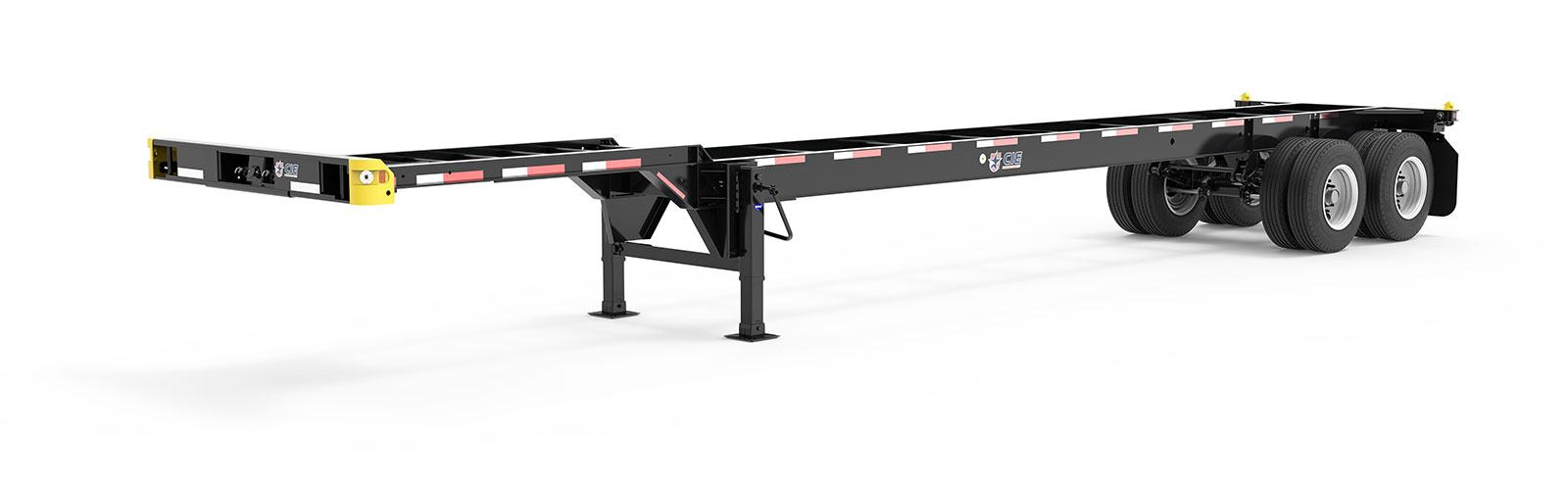 40' Gooseneck Tandem Container Chassis Literature Angle View Final