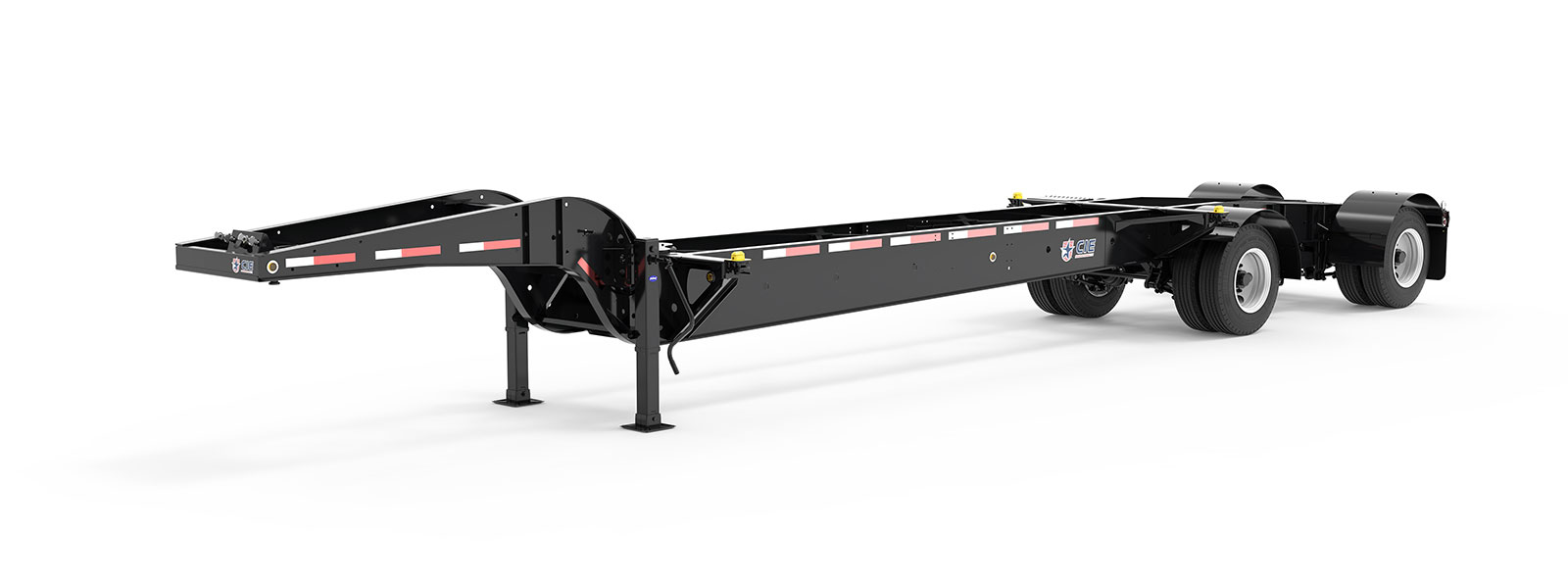 43' Drop Frame Tandem Tank Container Chassis Literature Angle View Final