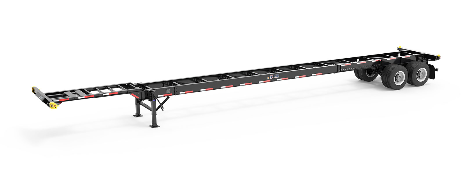 53' Gooseneck Tandem Container Chassis Angle View Final