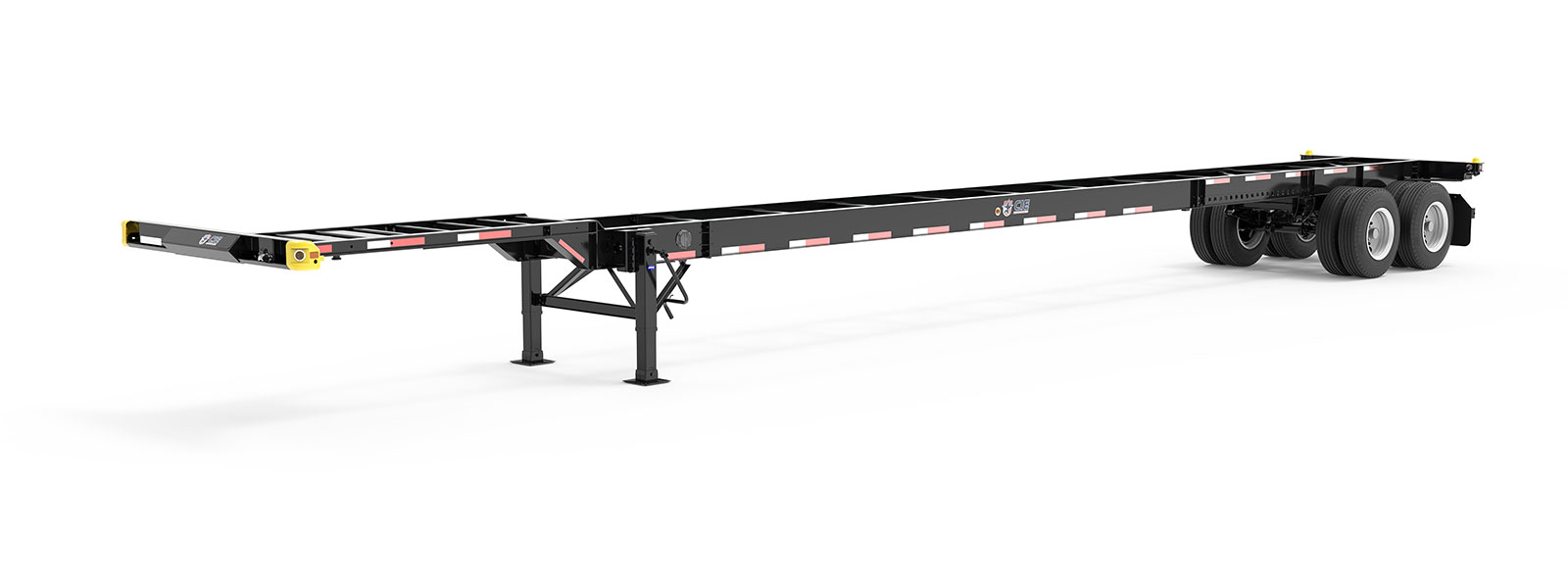 53' Gooseneck Tandem Container Chassis Literature Angle View Final