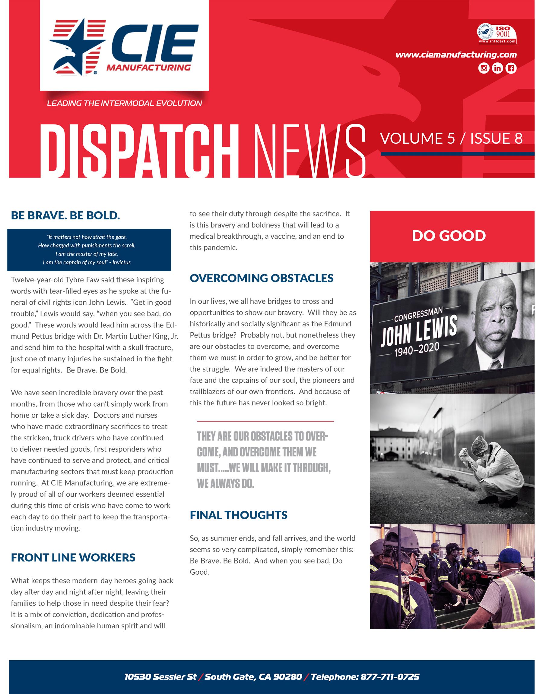 Dispatch August Newsletter