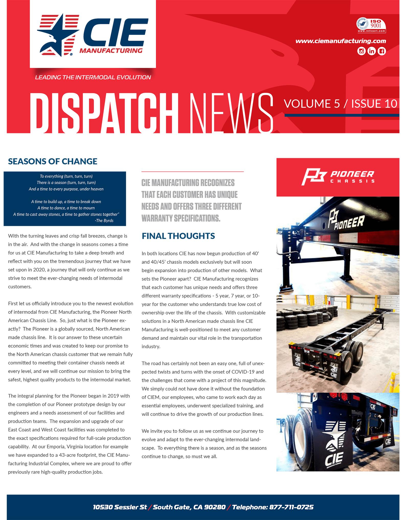 October Dispatch
