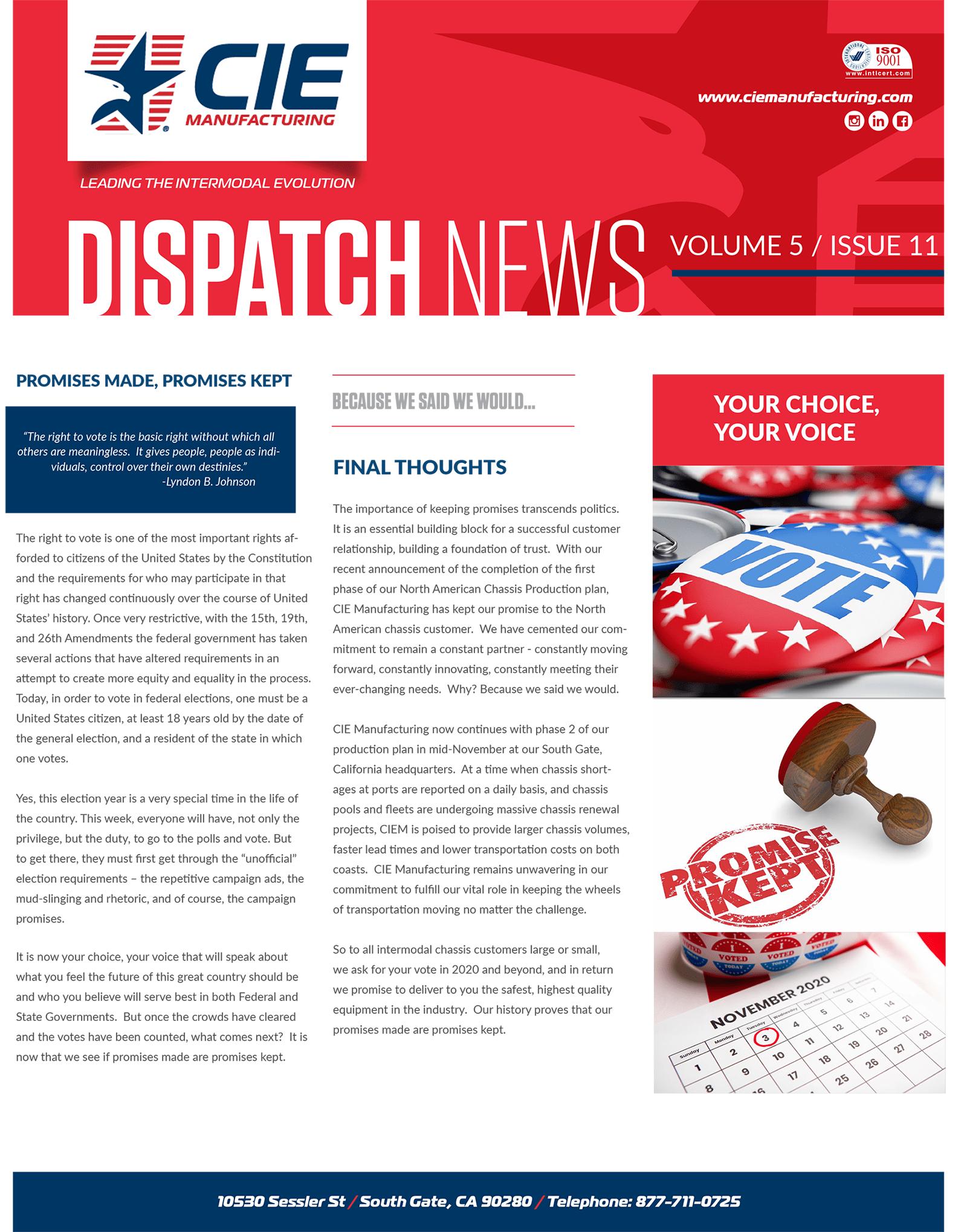 November Dispatch