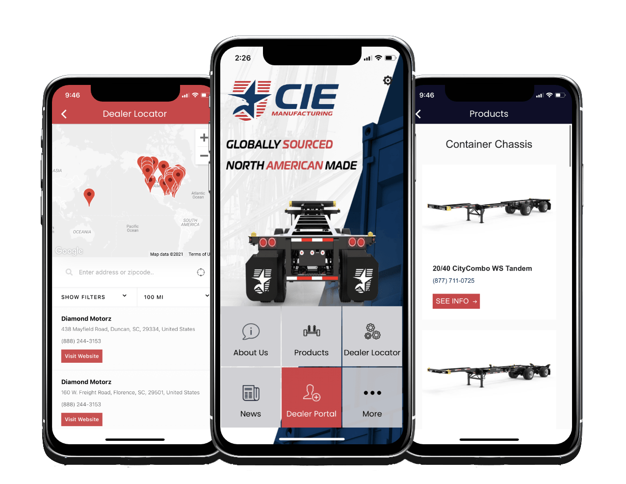 CIE Manufacturing Mobile App